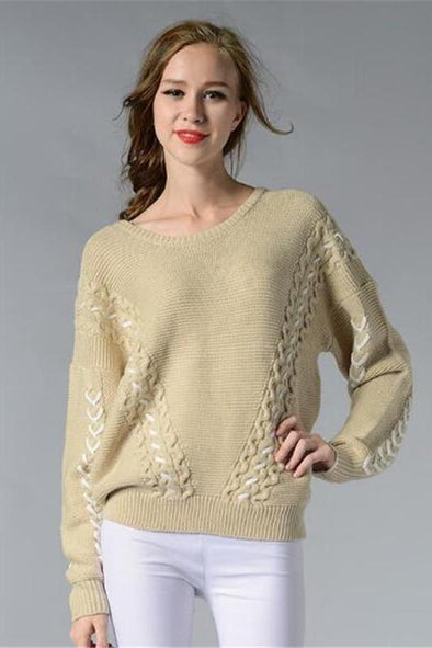 Fashion O-Neck Knitted Pullovers Female Sweater | TeresaClare