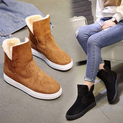 Fashion Solid Faux Suede Warm Women Snow Boots | TeresaClare