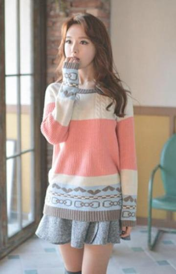 Fashion Striped Printed Pullover Long Sleeve Sweater | TeresaClare