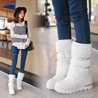 Fashion Wedges Warm Fur Shoes Woman Platform Boots | TeresaClare