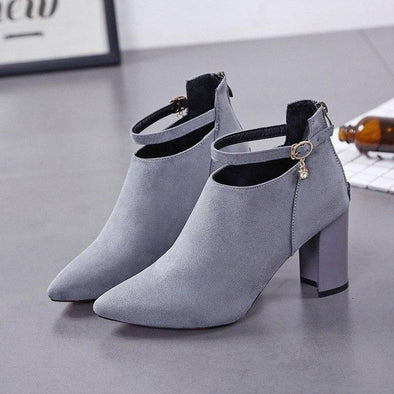 Fashion Zipper High Heel Buckle Sexy Boots | TeresaClare