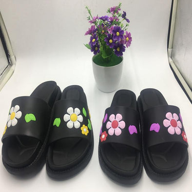 Fashionable Flower Antiskid Thick Bottom Slippers | TeresaClare