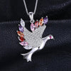 Feather Peace Dove 925 Sterling Silver Pendant | TeresaClare