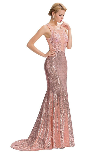 Floor Length Backless Elegant Long Prom Gown | TeresaClare