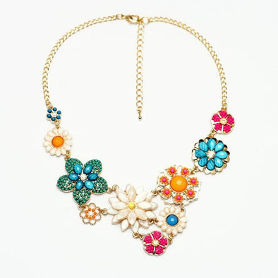 Flower Chunky Resin Colorful Statement Necklace | TeresaClare