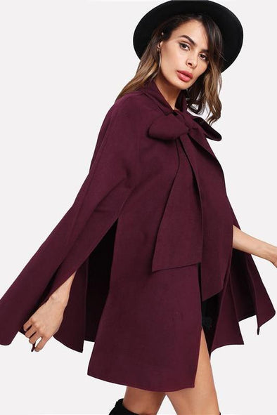 Front Cape Elegant Woman Fall Korean Fashion Coat | TeresaClare