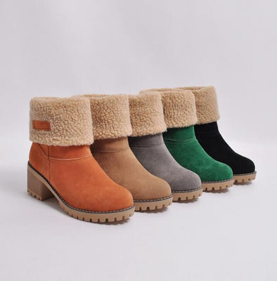Fur Warm Fashion High Heels Ankle Boots | TeresaClare
