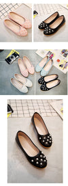 Genuine Leather Flower Tip Handmade Breathable Flats | TeresaClare