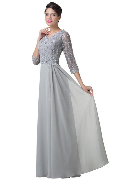 Glamorous Double V-Neck Padded Long Evening Dress | TeresaClare