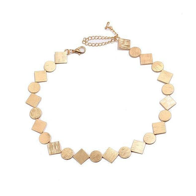 Gold Fashion Round Square Charms Necklace For Women | TeresaClare