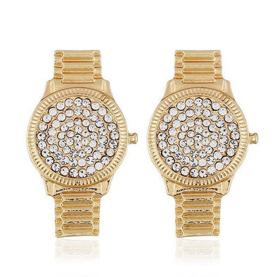Gold Gold Silver Color Watch Stud Earring For Women | TeresaClare