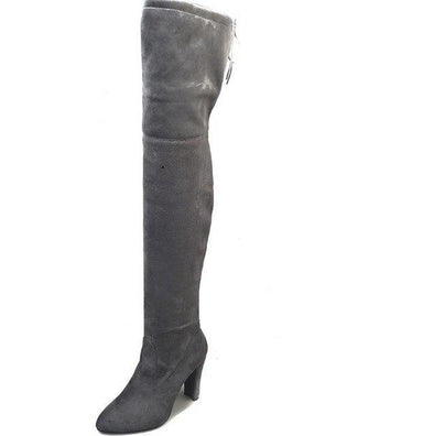 Gray Black Over the Knee Sexy Thigh High Long Boots | TeresaClare