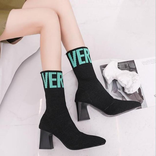 Green Autumn Winter Fashion Women Boots High Heels | TeresaClare