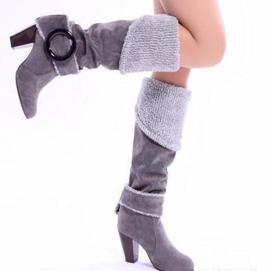 High Heels Winter Plush Knee Boots | TeresaClare