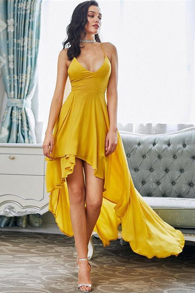 High Low Draped Party Backless V Neck Fashion Dress | TeresaClare