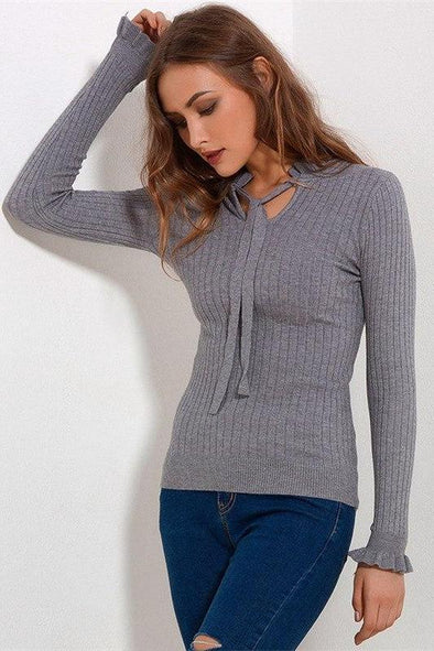 Irregularity Pullover Fashion Solid Slim Sweater | TeresaClare