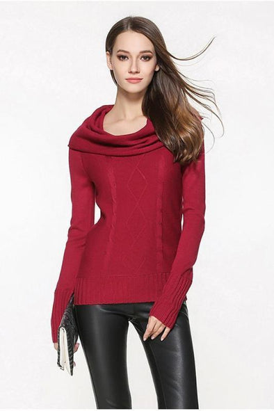 Knitted Pullovers For Women Slash Neck Candy Colors Sweater | TeresaClare