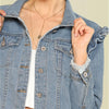 Long Sleeve Blue Women Casual Denim Jacket | TeresaClare