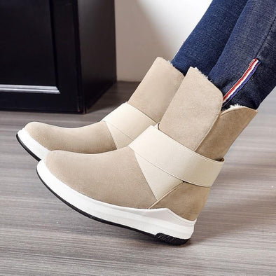 Mid-Calf Cotton Fashion Casual Flat Warm Boots | TeresaClare