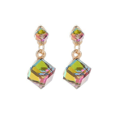 Mixed Luxury Rhinestone Crystal Stone Square Drop Earrings | TeresaClare