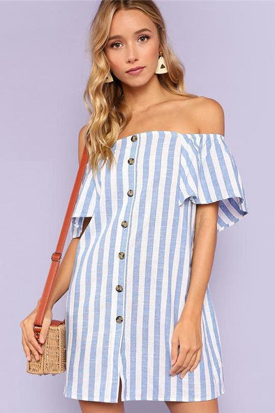Multicolor Vacation Bohemian Beach Striped Fashion Dress | TeresaClare