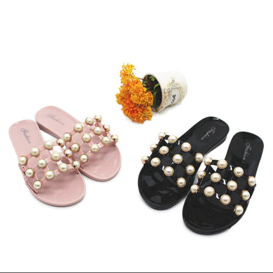 Pearl Grape Particles Cool Flowers Thick Soles Slippers | TeresaClare