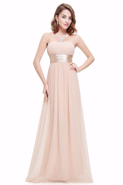 Pearl Pink Elegant Gorgeous Sexy Strapless A-Line Evening Dress | TeresaClare