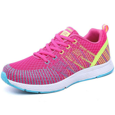 Pink Casual Shoes Outdoor Walking Sneakers For Women | TeresaClare