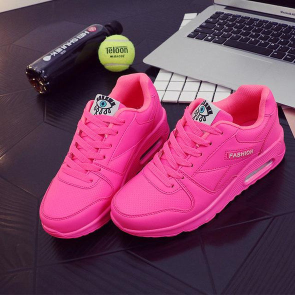 Pink Fashion Korean Women's Sneakers Shoes For Outdoor Walking | TeresaClare