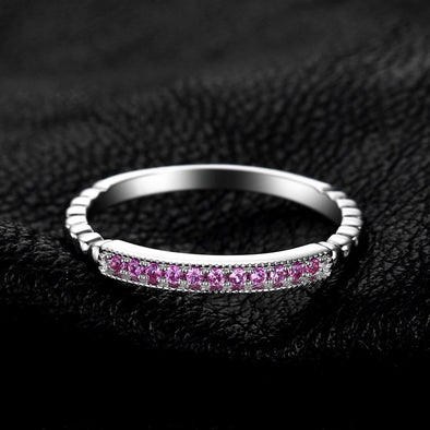 Pink Sapphire Rope Band Stackable Ring | TeresaClare