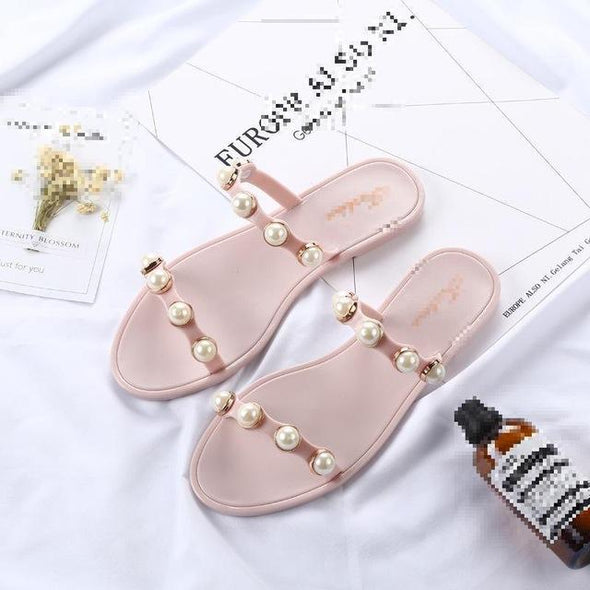 Pink Summer Beach Leisure Female Slippers | TeresaClare
