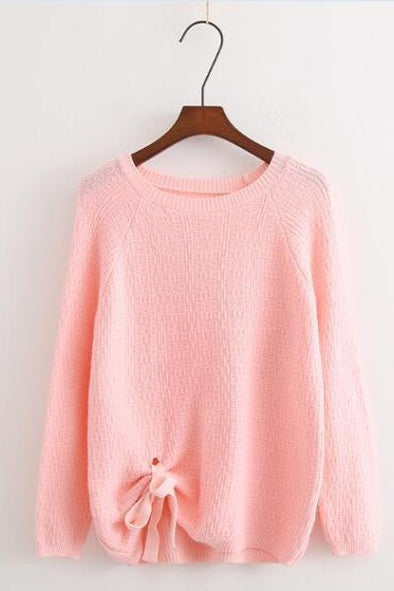 Pink Women's O-Neck Autumn Winter Knitted Sweater | TeresaClare