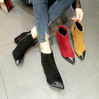 Pointed Toe High Heel Women Boots Basic | TeresaClare