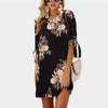 Printed Straight Half Sleeve O Neck Mini Casual Fashion Dress | TeresaClare
