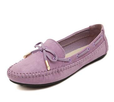 Purple Casual Bowtie Loafers Sweet Candy Color Women Flats | TeresaClare