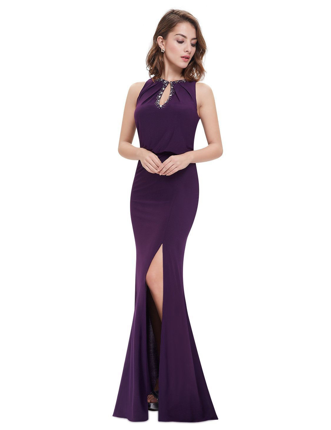 Shop Elegant Neckline Women Long Sexy On Line Plus Size Evening Gown ... 6de758537