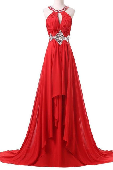 Sequins Beaded Chiffon Sexy Evening Prom Dress | TeresaClare