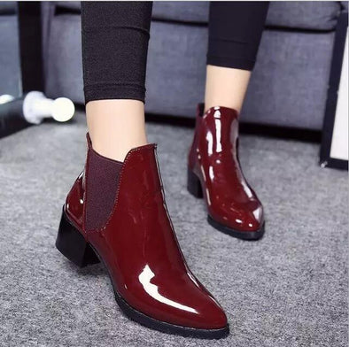 Sexy Rain Ankle Boots Casual Platform Shoes Slip On | TeresaClare