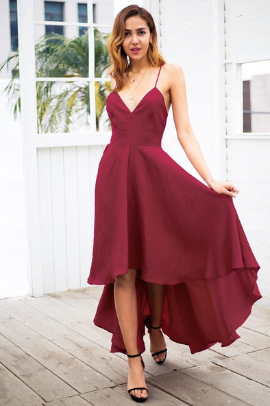 Sexy Strap Backless Red Lace Up Maxi Fashion Dress | TeresaClare
