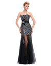 Shining Black Elegant Sequined Trumpet/Mermaid Prom Dress | TeresaClare