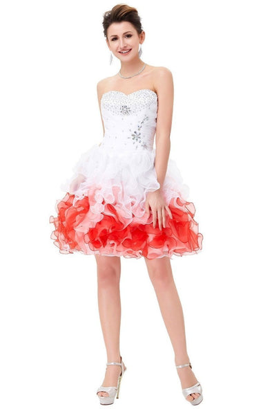 Short Sweetheart Beadings Sequins Ball Prom Dress | TeresaClare
