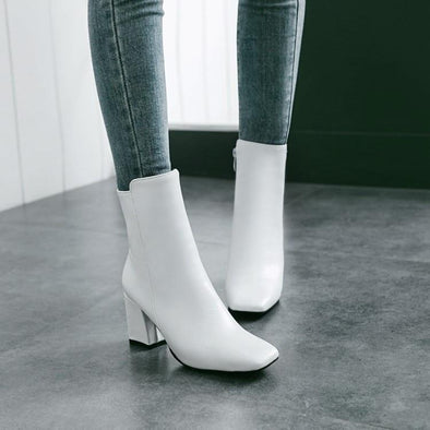 Side Zipper Comfortable High Heel Ankle Boots | TeresaClare
