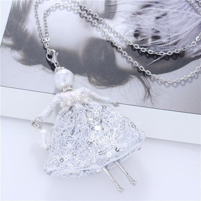 Simulated Pearl White Dress Doll Necklace French Doll | TeresaClare
