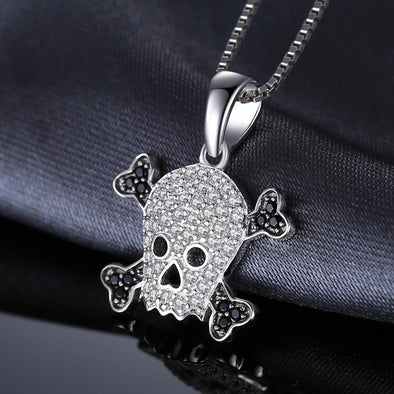 Skull 0.2ct Genuine Spinel Pendant Necklace | TeresaClare