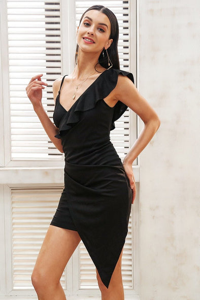 Strap Sexy Bodycon V Neck Backless Mini Dress | TeresaClare