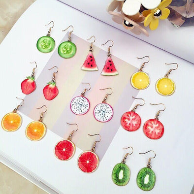 Strawberry Watermelon Pineapple Orange Tomato Cucumber Drop Earrings | TeresaClare