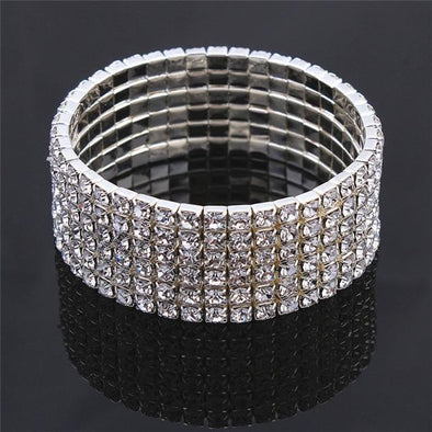 Style 6 Clear 1/2/3/4/5/6 Rows Luxury Crystal Bracelets | TeresaClare