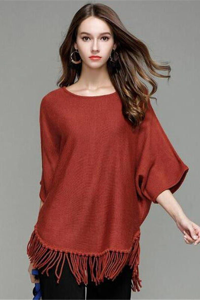 Tassel Fashion Knitted Pullovers Female Sexy Sweater | TeresaClare