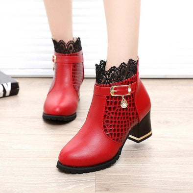 Thick Heel Platform Buckle Autumn Winter Sexy Boots | TeresaClare