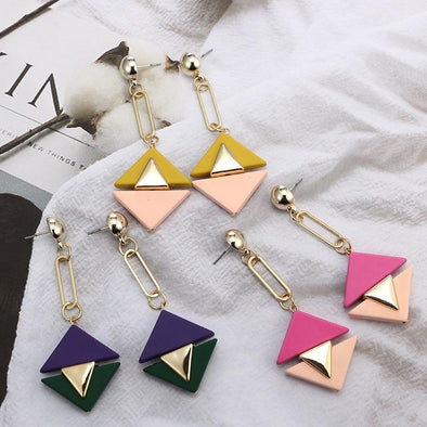 Triangle Brincos Gold Statement Earrings | TeresaClare